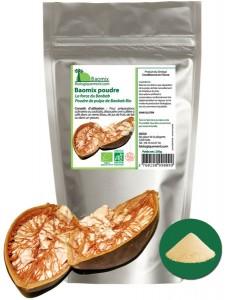 Baomix la poudre de fruit de baobab biologique certifiée Ecocert France. Produit par AGOJI
